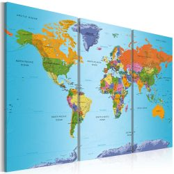 Kép - World Map: Colourful Note