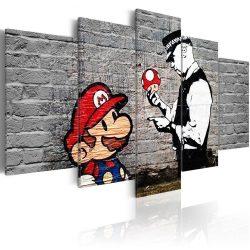 Kép - Super Mario Mushroom Cop by Banksy 90x60