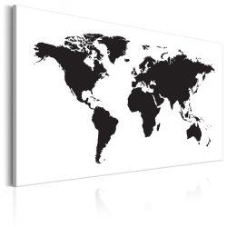Kép - World Map: Black & White Elegance