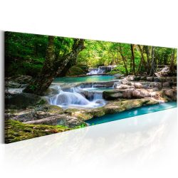 Kép - Nature: Forest Waterfall 150x50