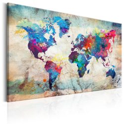 Kép - World Map: Colourful Madness
