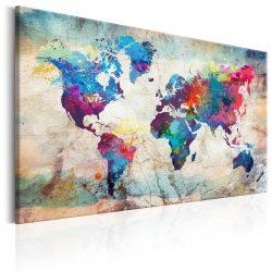 Kép - World Map: Colourful Madness