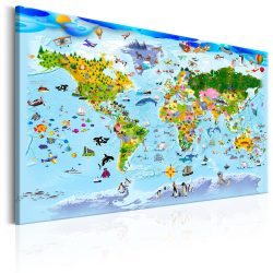 Kép - Children's Map: Colourful Travels