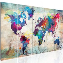 Kép - World Map: Cracked Wall