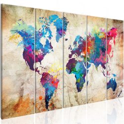 Kép - World Map: Colourful Ink Blots