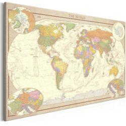 Kép - Cream World Map