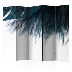 Paraván - Dark Blue Feather II [Room Dividers]