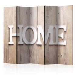 Paraván - Room divider – Home on wooden boards