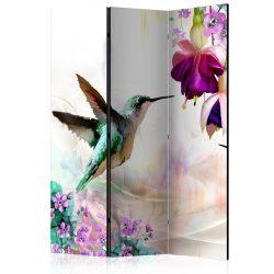 Paraván - Hummingbirds and Flowers [Room Dividers]