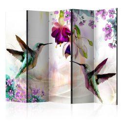 Paraván - Hummingbirds and Flowers II [Room Dividers]