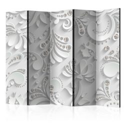 Paraván - Flowers in Crystals II [Room Dividers]