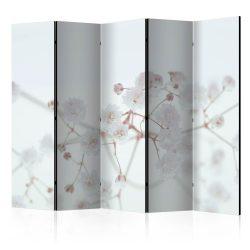 Paraván - White Flowers II [Room Dividers]