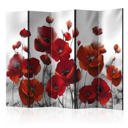 Paraván - Poppies in the Moonlight II [Room Dividers] 225x172