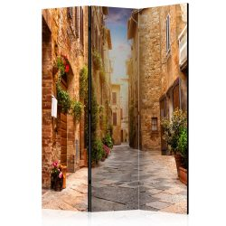 Paraván - Colourful Street in Tuscany [Room Dividers]