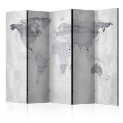 Paraván térkép - Concrete Map [Room Dividers] Világtérkép 225x172