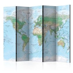 Paraván térkép - World Map [Room Dividers] Világtérkép 225x172