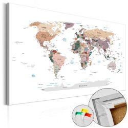 Kép parafán - Where Today? [Cork Map]  Parafa világtérkép - vászonkép 120x80