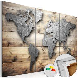 Kép parafán - Doors to the World [Cork Map]  Parafa világtérkép - vászonkép 120x80