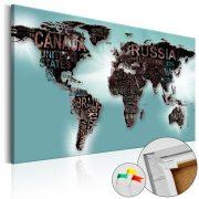 Kép parafán - Subtlety of the World [Cork Map]  Parafa világtérkép - vászonkép 60x40