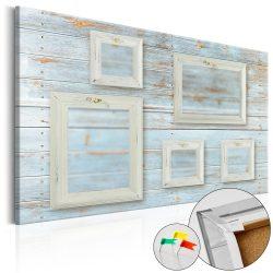 Kép parafán - Retro Gallery [Corkboard] Fényképtartó parafa kép - képkeretekkel 120x80