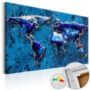 Kép parafán - Cobalt Immersion [Cork Map]  Parafa világtérkép - vászonkép 120x80