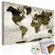 Kép parafán - Green Planet [Cork Map]  Parafa világtérkép - vászonkép 90x60