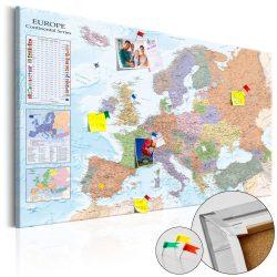 Kép parafán - World Maps: Europe [Cork Map]  Parafa világtérkép - vászonkép 120x80
