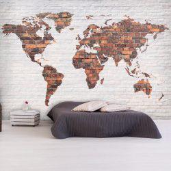 Fotótapéta - World Map: Brick Wall