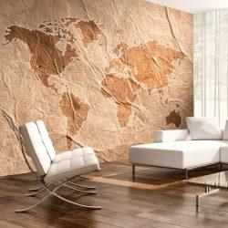 Fotótapéta térkép - Sandy Map Világtérkép 250x175