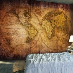Fotótapéta - World on old map