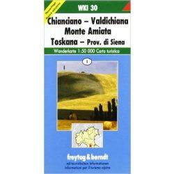 WKI 30 Chianciano-Valdichiana Monte Amiata Toscana turista térkép Freytag 1:50 000
