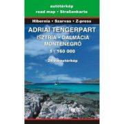 Adriai tengerpart térképe, Adria térkép Szarvas - Hibernia 2015 1:160 000