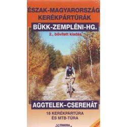 Aggtelek-Észak Magyarországi kerékpártúrák könyv térképpel Frigória kiadó