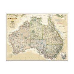 Antik színezésű Ausztrália falitérkép National Geographic  1:4 560 000  76x69 cm