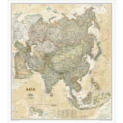 Ázsia falitérkép antikolt National Geographic 85 x 96 cm