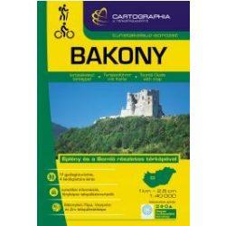 Bakony turistakalauz Cartographia 1:40 000  Bakony térkép