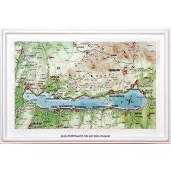 Balaton dombortérkép Magyar Honvédség 32x25 cm képeslap
