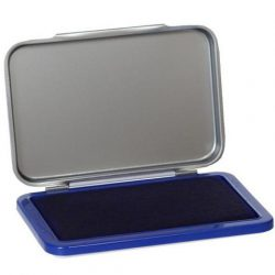 Bélyegző párna fémházas, Bélyegzőpárna igazolófüzethez - kék tintás