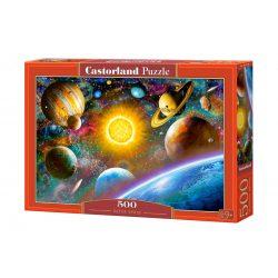 Castorland B-52158 - Világűr - 500 db-os puzzle Bolygók puzzle, Naprendszer puzzle 47 x 33 cm