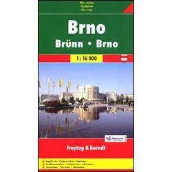 Brno térkép keményfedeles Freytag 1:20 000