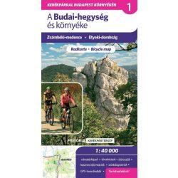 A Budai-hegység kerékpáros térkép Frigória 1:42 000