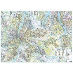 Budapest falitérkép keretezett Dimap-Térkép-Center 120x86 cm  2016