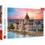 Magyar Parlament puzzle - 500 db-os Budapest puzzle, Parlament kép puzzle Trefl