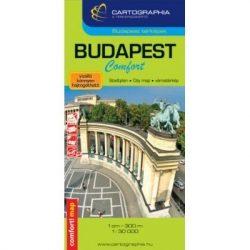 Budapest Comfort térkép fóliás Cartographia 1:30e. 2019 Budapest térkép vízálló
