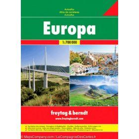 Európa térképek autó atlaszok