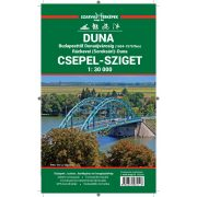 Duna turistatérkép, Csepel-sziget térkép Szarvas kiadó 1:30 000, Duna biciklis és vízisport térkép (Budapest-Dunaújváros)
