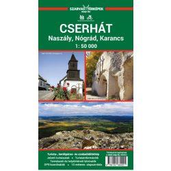 Cserhát térkép, Cserhát turistatérkép Szarvas kiadó 1:50 000 Karancs turista térkép, Cserhát kerékpáros térkép