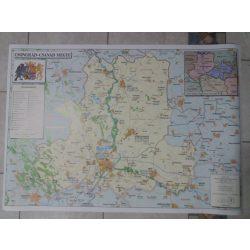 Csongrád - Csanád megye térkép, Csongrád megye falitérkép