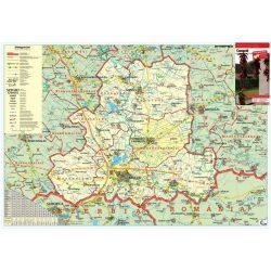 Csongrád megye falitérkép fémléces Stiefel 70x 50 cm