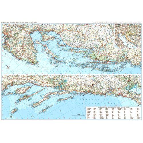 Dalmácia, Isztria falitérkép Gizi Map 1:250 000
